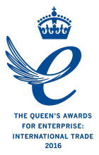 Queens Award for Enterprise International Trade 2016 Emblem s