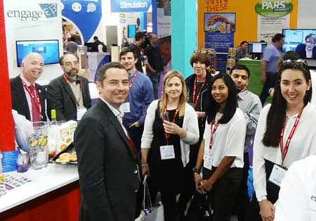 The Engage by Double First stand hosts an ISA delegation at Bett 2016