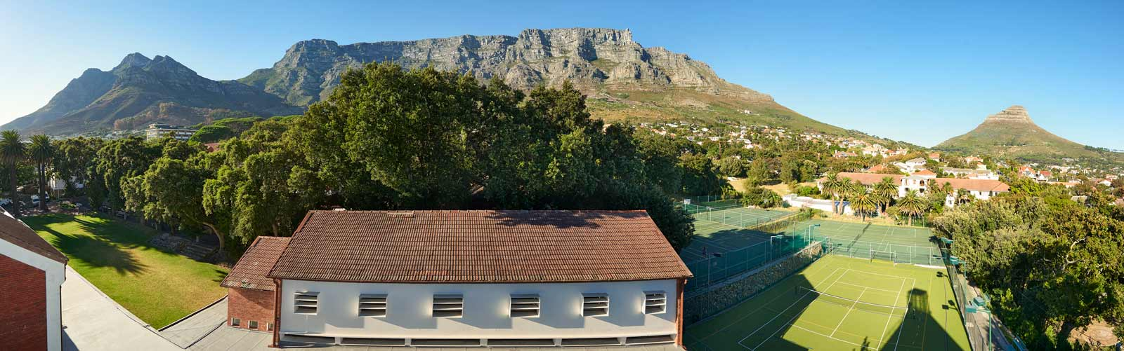 Sy Cyprians School with Table Mountain behind
