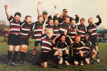 Mike's under 11s team having just won the Cheddar Tournament in 2011. Effectively County champions in their age group