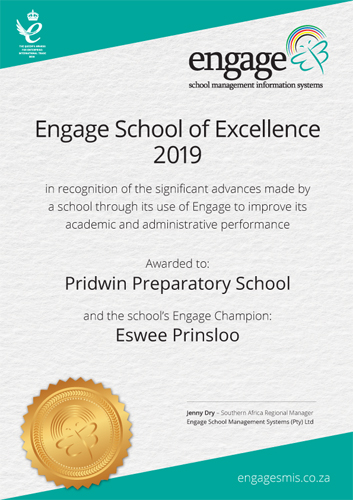 School of Excellence 2019 for Southern Africa